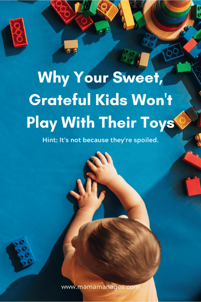 kids won't play with their toys