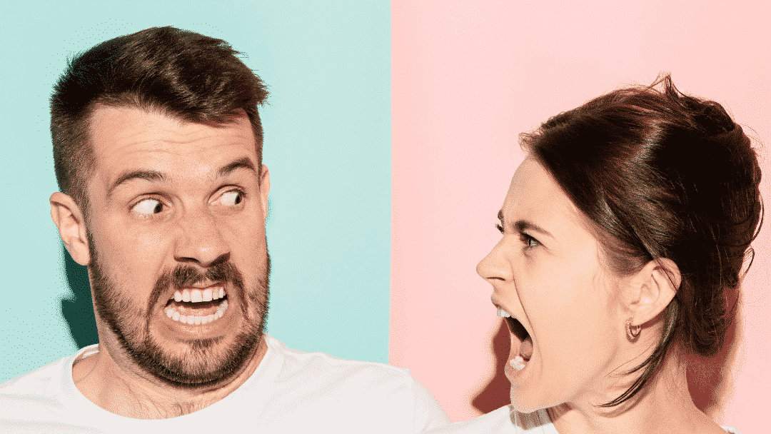 angry couple with unmet expectations in marriage
