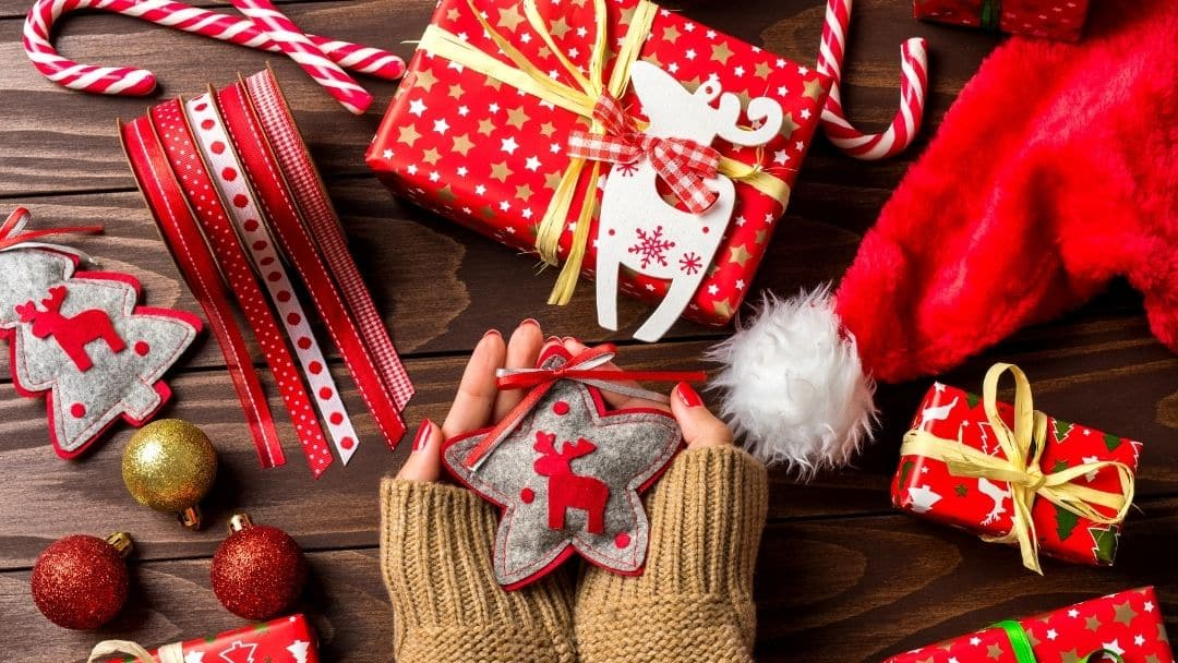 decorating for the holidays can support a new mom