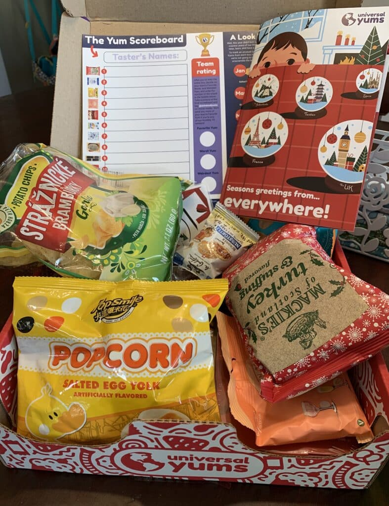 universal yums holiday box review