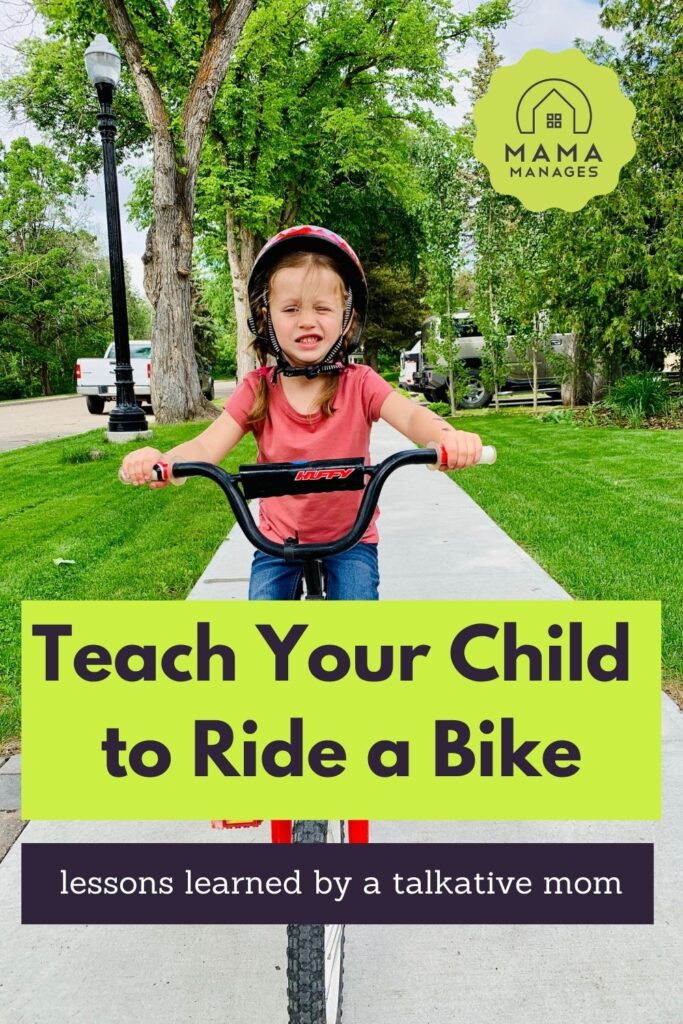 teach your child to ride a bike pin
