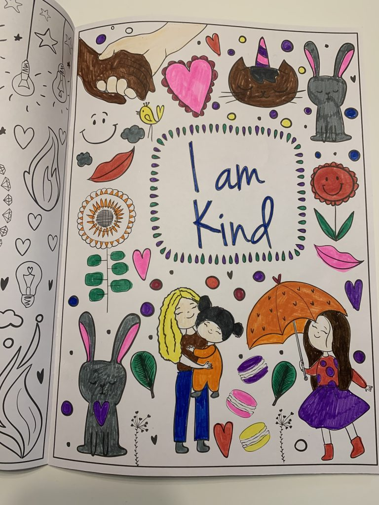 positive affirmations coloring book for kids - finished picture by a child