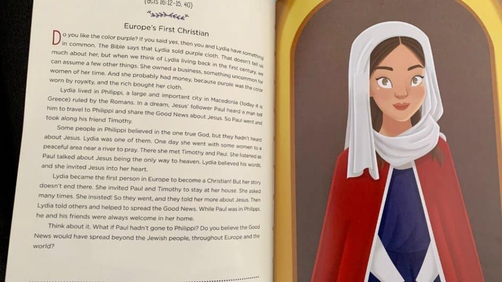best children's Bible by age - the girls devotional Bible about extraordinary Christian women