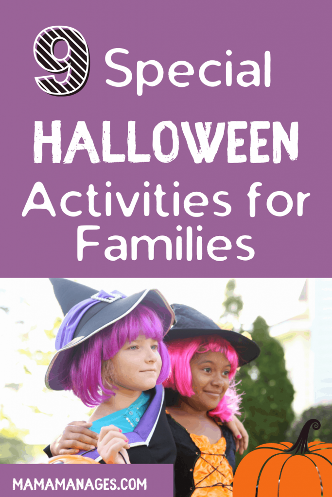 pin Halloween activities for kids and families