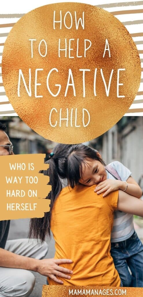 Pin for How to Help a Negative Child with a mom hugging daughter