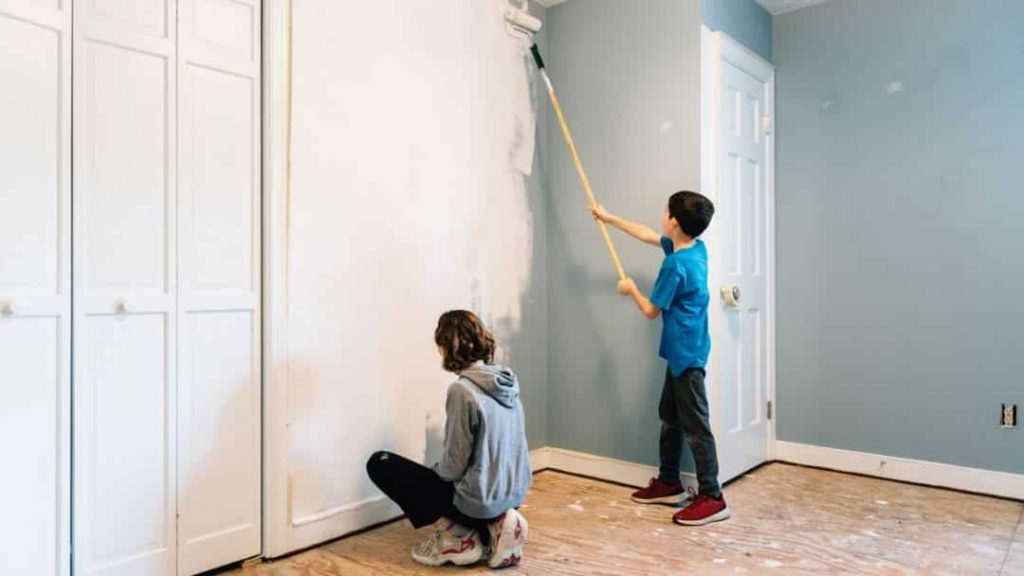 family night idea - paint a bedroom together
