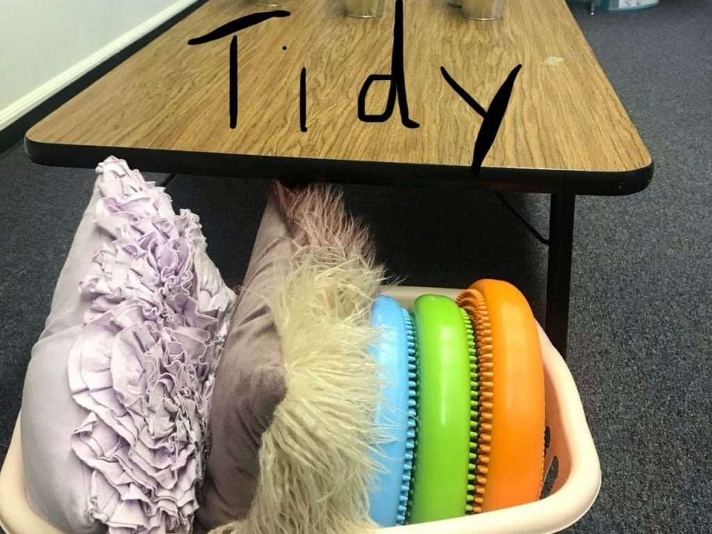flexible seating classroom management - staying organized