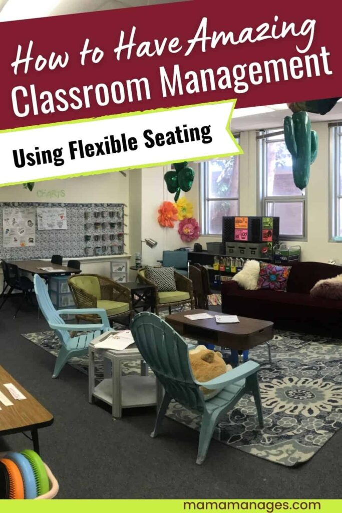 flexible seating classroom management pin