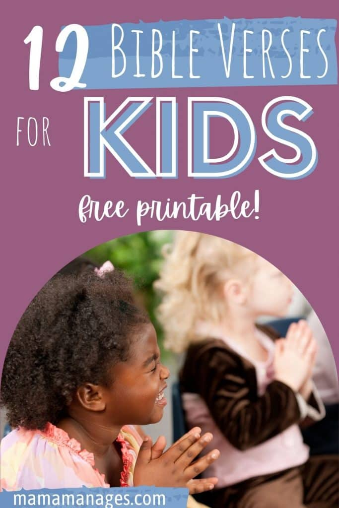 scripture for children's behavior pin
