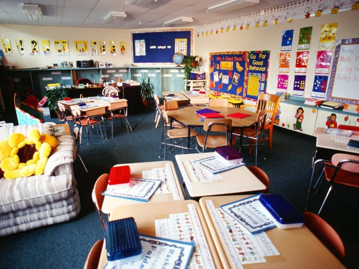 colorful, clean classroom