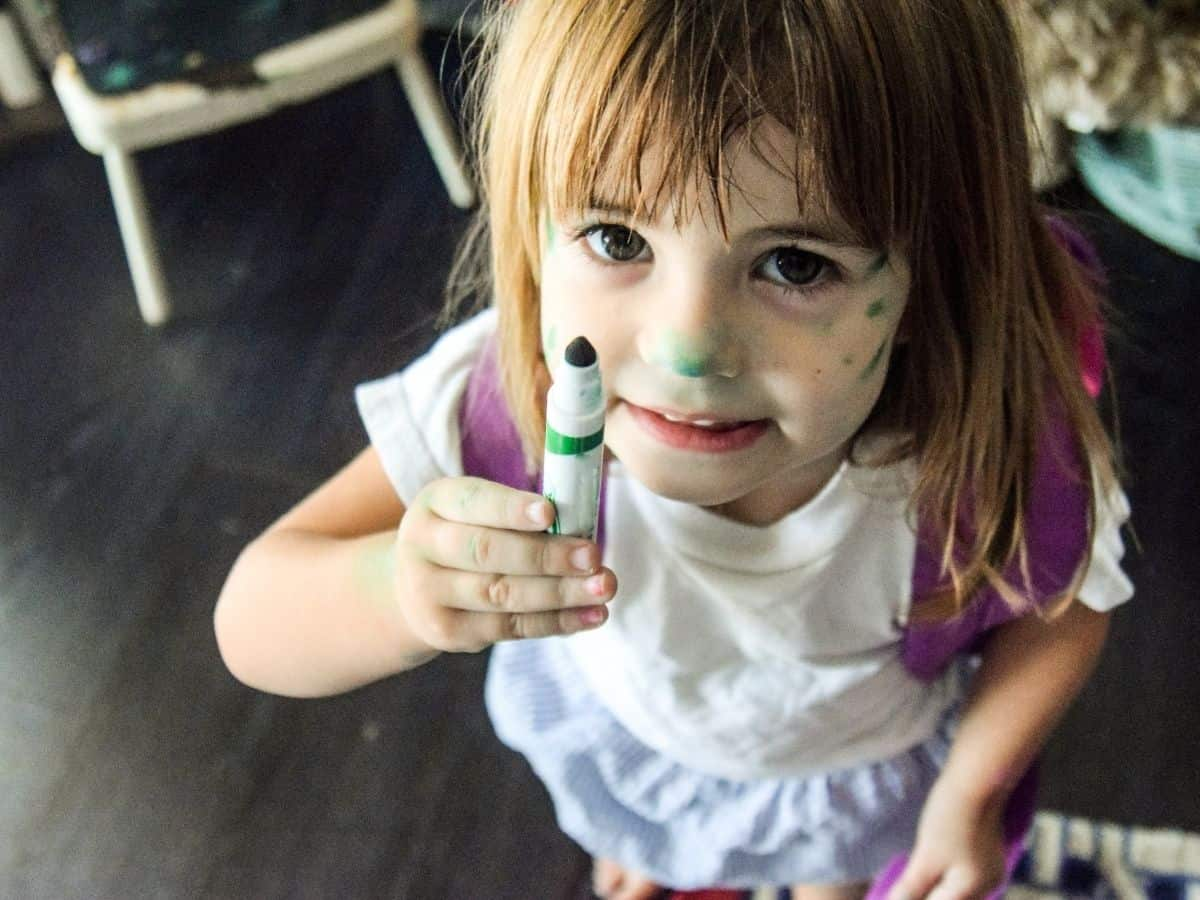 child with marker needs a warning vs. threat