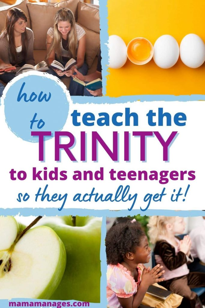 pin for Pinterest - how to teach the trinity to a child or teenager