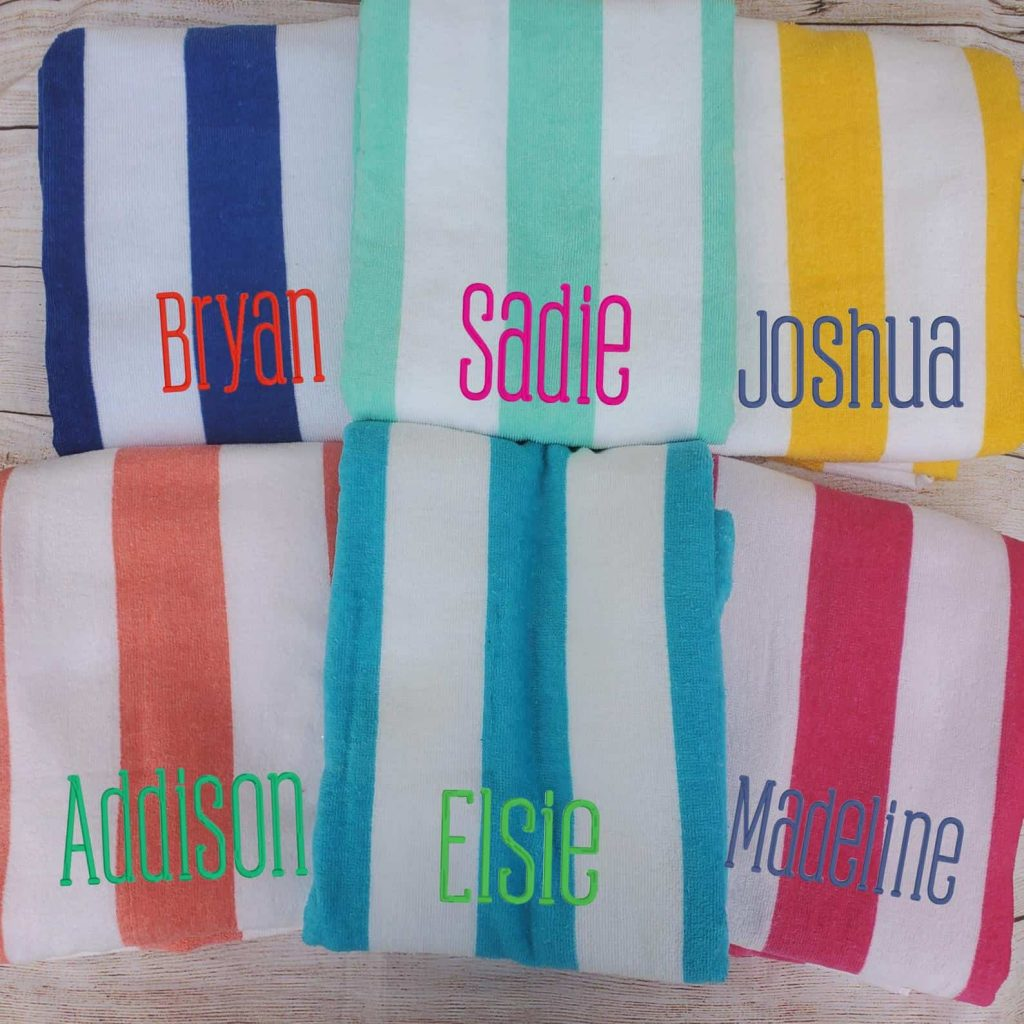 personalized beach towels for a 5th grade graduation gift