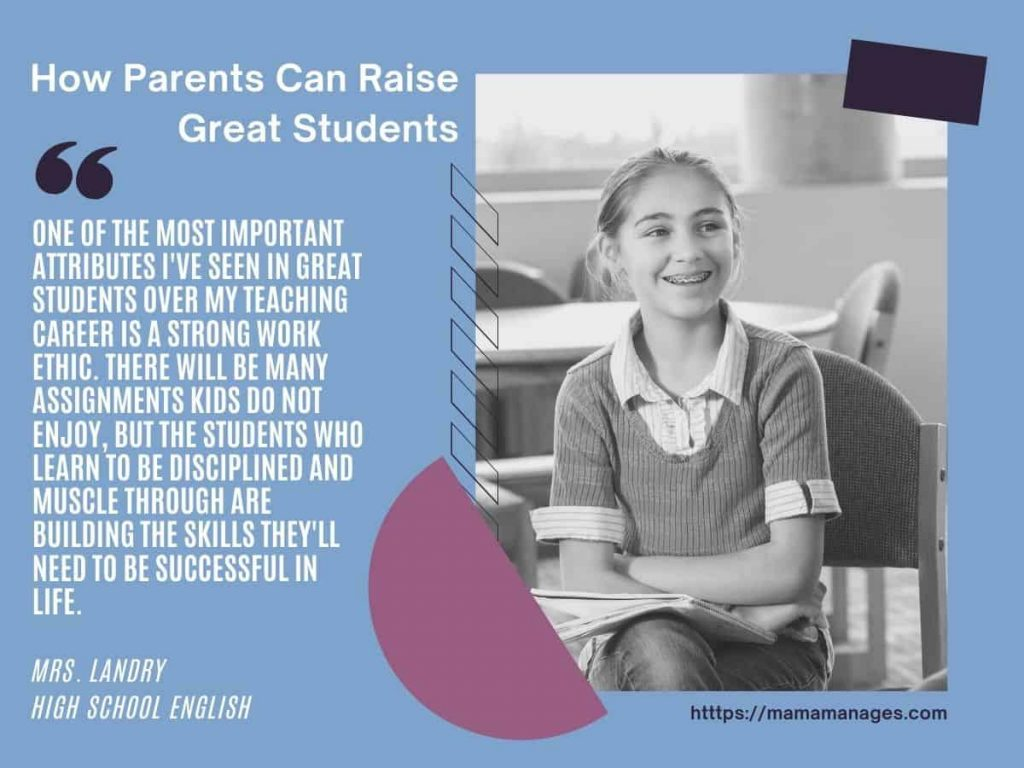 quote from Mrs. Landry - help your child succeed in school