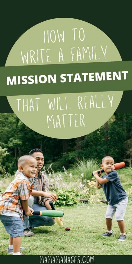 pinterest pin for family mission statement