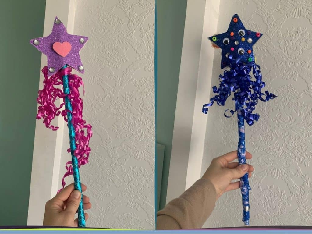 the finished project - DIY magic wand