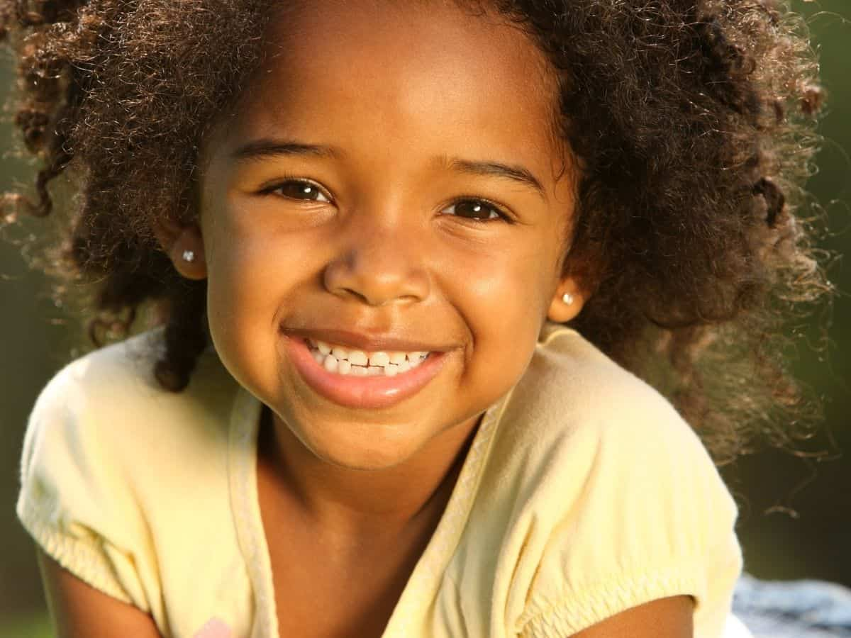 child's strength and confidence - smiling girl