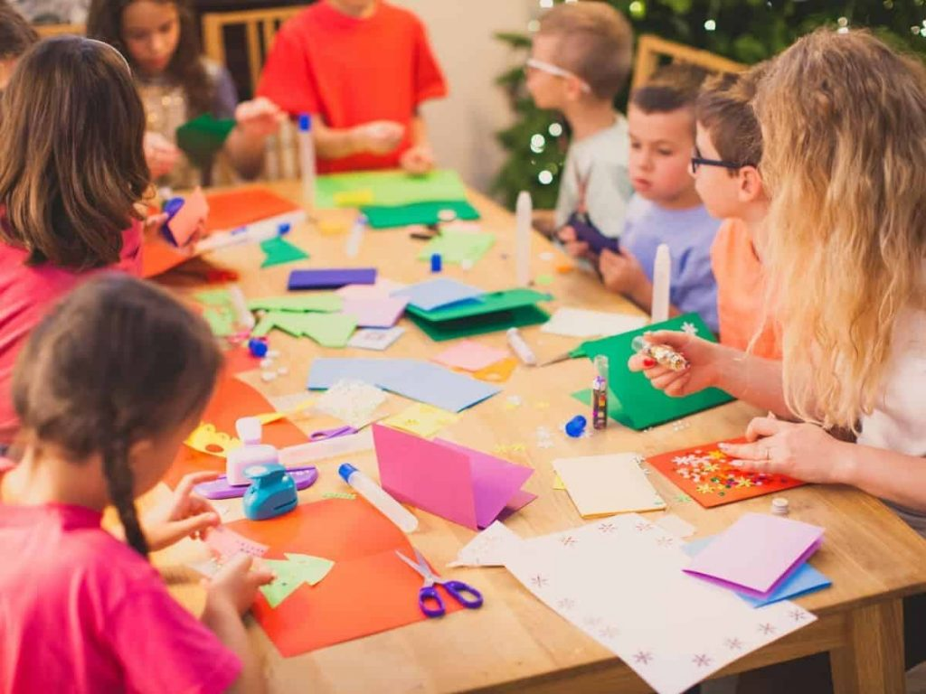 Christmas activities for students - making cards